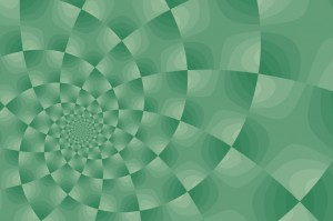 Swirled checkered background pattern