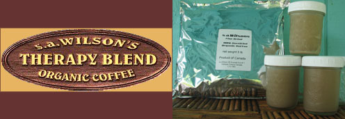 Scott Wilson created a coffee blend of organic coffee beans from South America, for special use for coffee enemas: s.a. Wilson's Therapy Blend Coffee