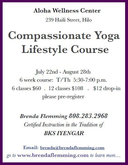 compassionate yoga class