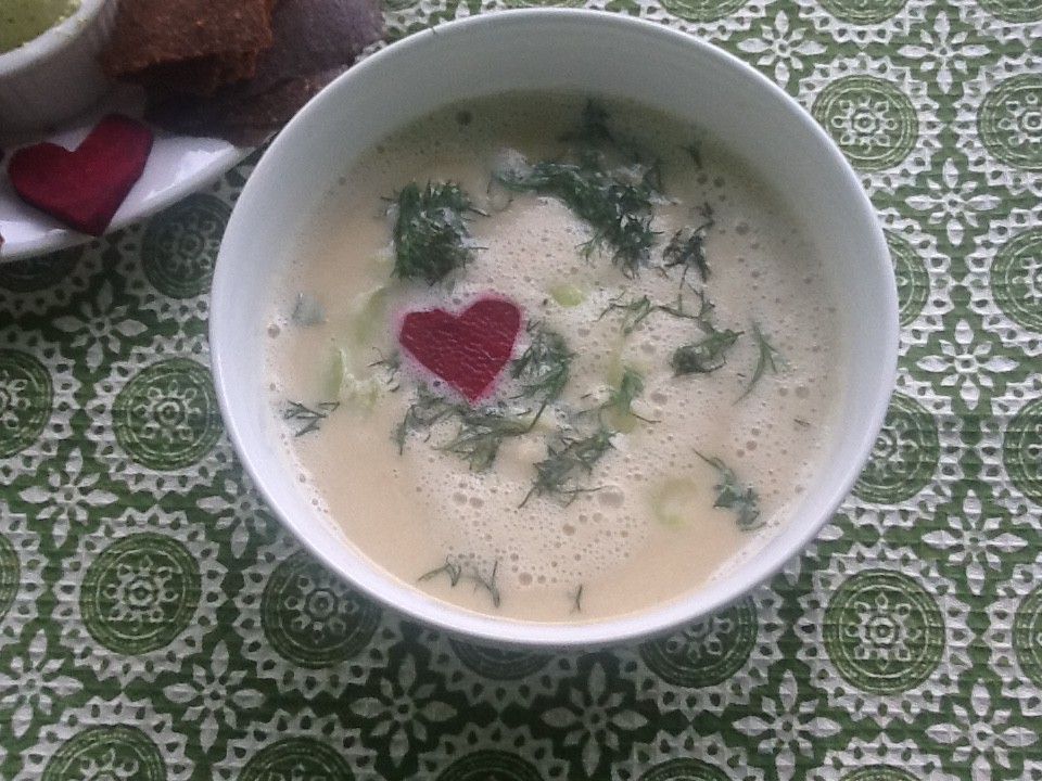 Raw Celery Root Soup
