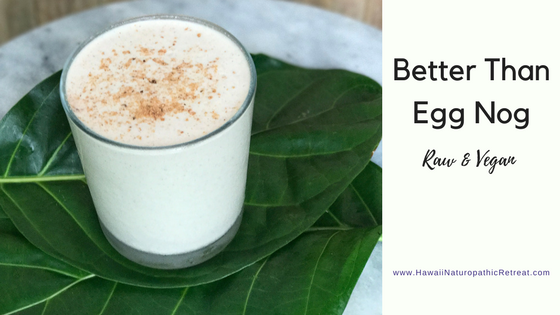 raw vegan egg nog recipe for the holidays